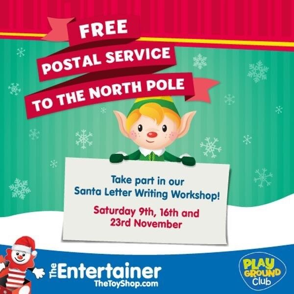 Santa Letter Writing Workshops at The Entertainer!